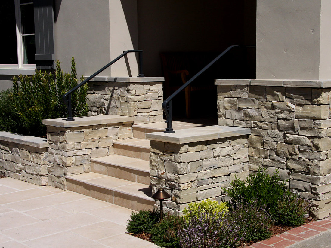 Natural Stone Wall Caps : Wall cap coping stair treads natural stone information